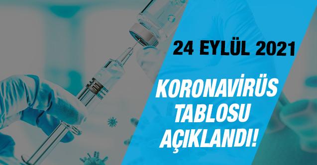Türkiye'de 24 Eylül 2021 koronavirüs vaka ve ölü sayıları açıklandı! İşte son durum