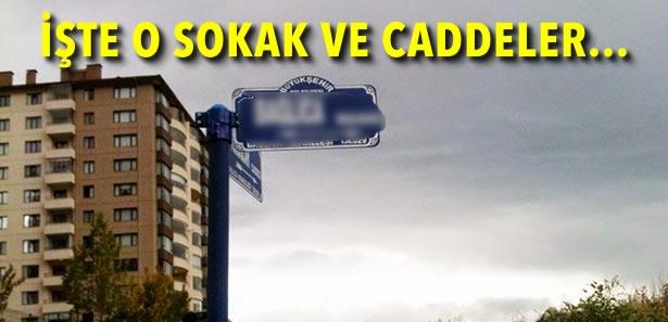 Ankara'da 8 İlçede 16 Cadde - Sokağın İsmi Değiştirildi