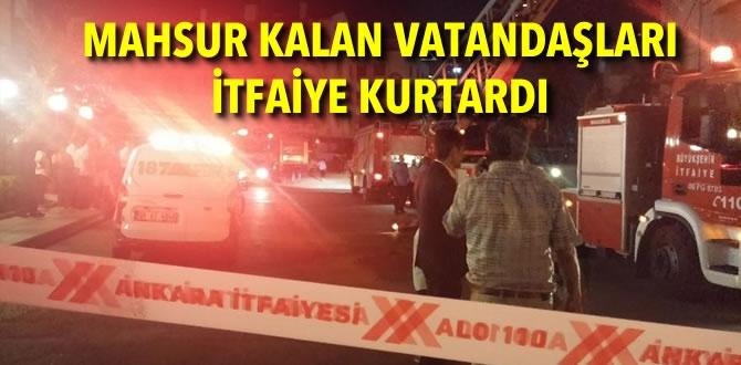 Ankara'da Çatı Katı Yangını!