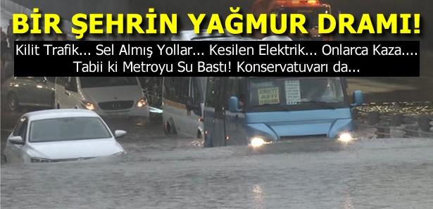 Başkent Ankara Yağmura Ve Sele Teslim Oldu