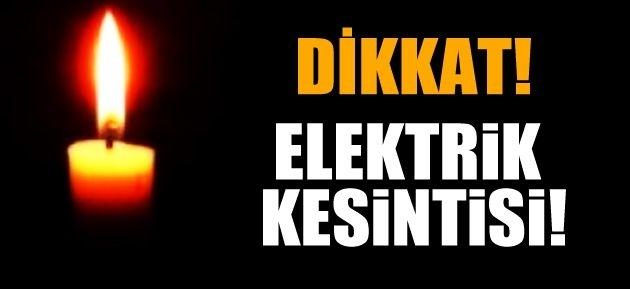 DİKKAT! Ankara'da Yarın Elektrik Kesintisi!