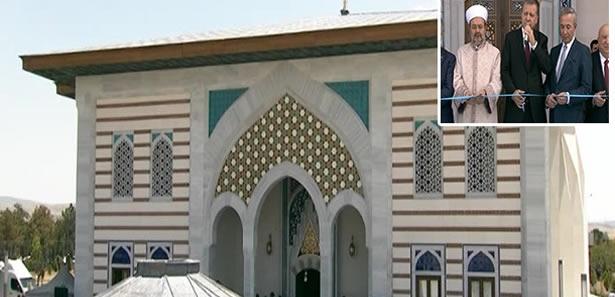 Erdoğan Havalimanında Cami Açılışı Yaptı