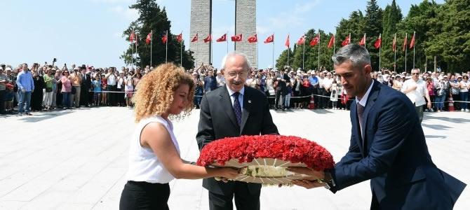 Kılıçdaroğlu Anafartalar Zaferinin 101. Yıldönümü Törenine Katıldı