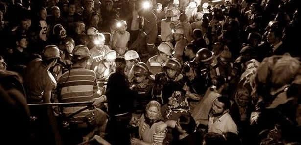 Kızılay'da Madenciler İçin Saygı Duruşu Ve Açıklama