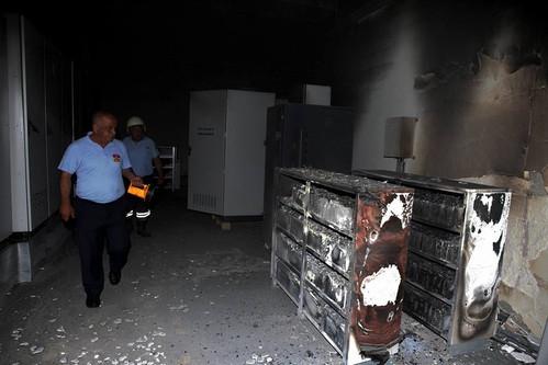 Mersin Arena Stadyumu'nda Yangın