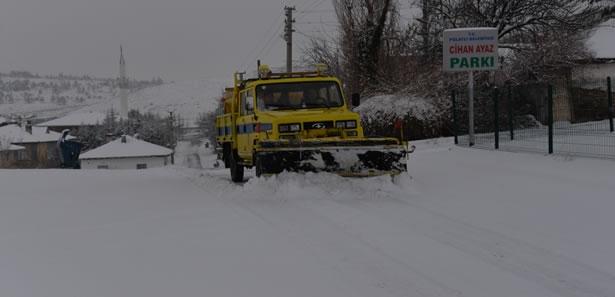 Polatlı'da da Karla Mücadele Devam Ediyor